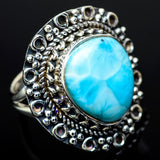 Larimar Rings handcrafted by Ana Silver Co - RING11831