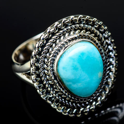 Larimar Rings handcrafted by Ana Silver Co - RING11878