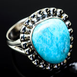 Larimar Rings handcrafted by Ana Silver Co - RING11894