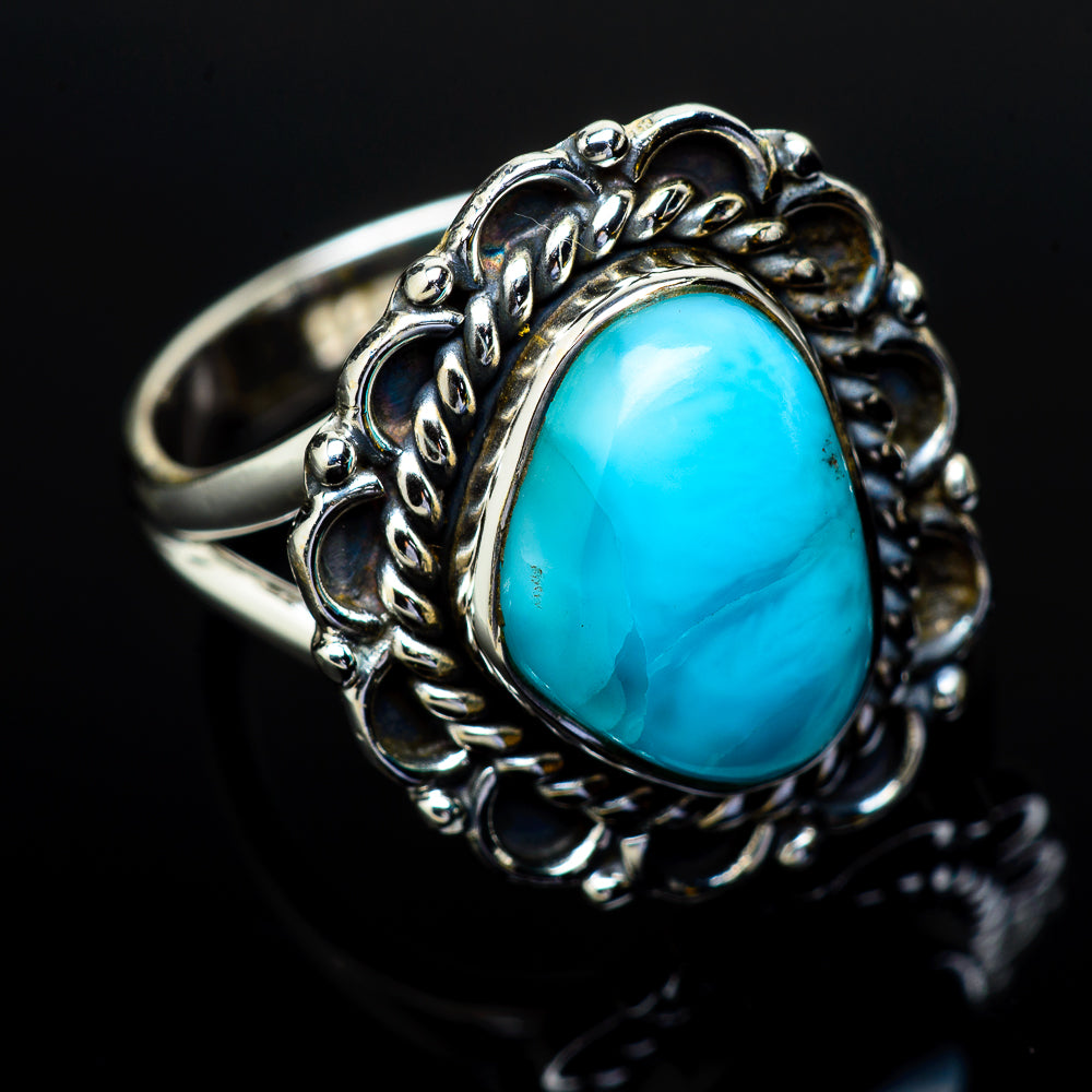 Larimar Rings handcrafted by Ana Silver Co - RING11910