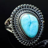 Larimar Rings handcrafted by Ana Silver Co - RING11960