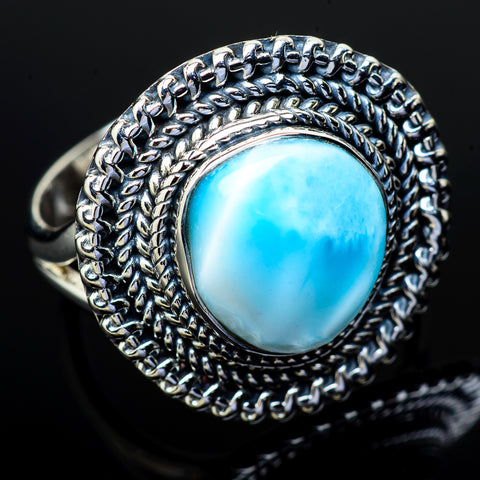 Larimar Rings handcrafted by Ana Silver Co - RING11985