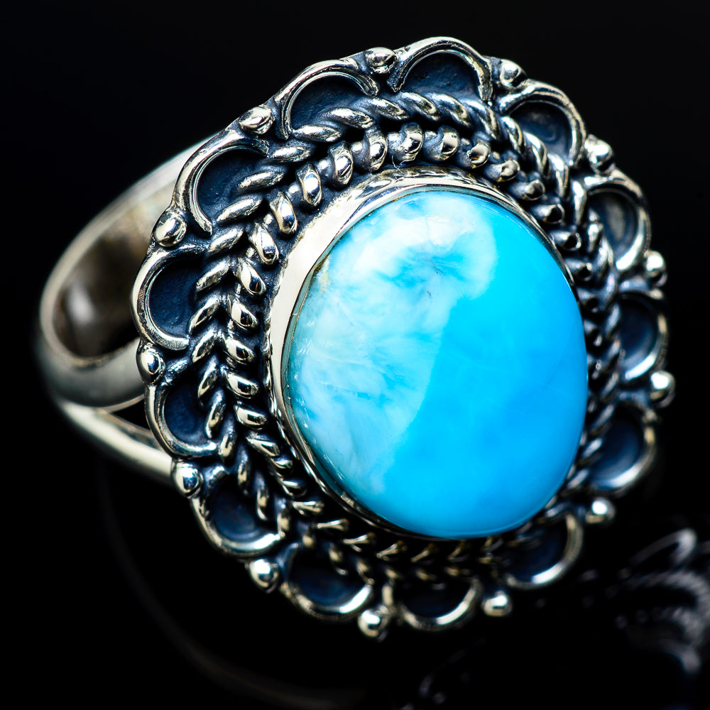 Larimar Rings handcrafted by Ana Silver Co - RING12102