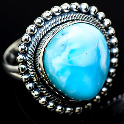 Larimar Rings handcrafted by Ana Silver Co - RING12158