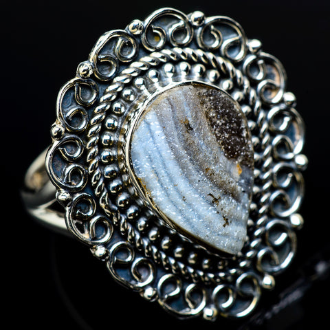 Desert Druzy Rings handcrafted by Ana Silver Co - RING12203