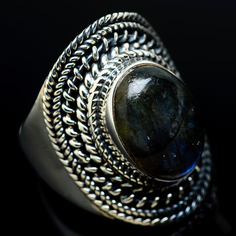 Labradorite Rings handcrafted by Ana Silver Co - RING12208