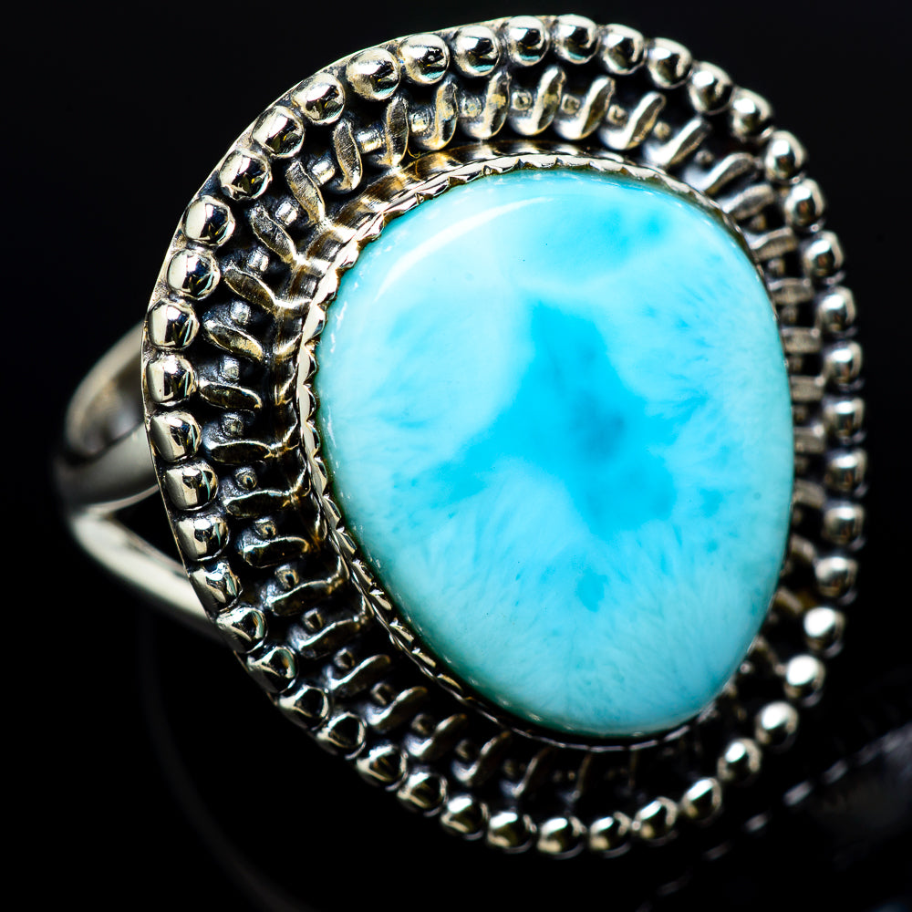 Larimar Rings handcrafted by Ana Silver Co - RING12233