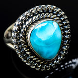 Larimar Rings handcrafted by Ana Silver Co - RING12248