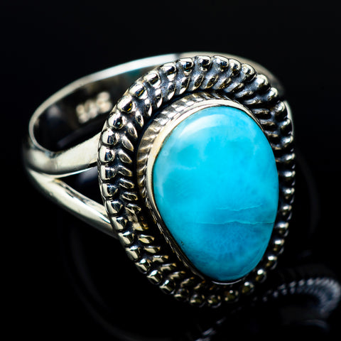 Larimar Rings handcrafted by Ana Silver Co - RING12265