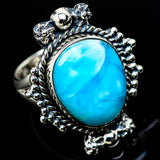 Larimar Rings handcrafted by Ana Silver Co - RING12269