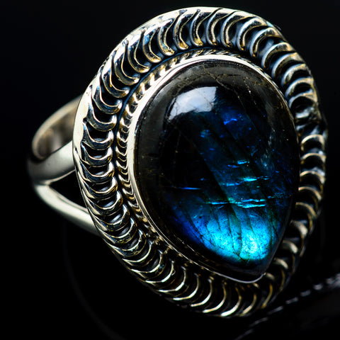 Labradorite Rings handcrafted by Ana Silver Co - RING12272