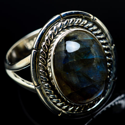 Labradorite Rings handcrafted by Ana Silver Co - RING12325