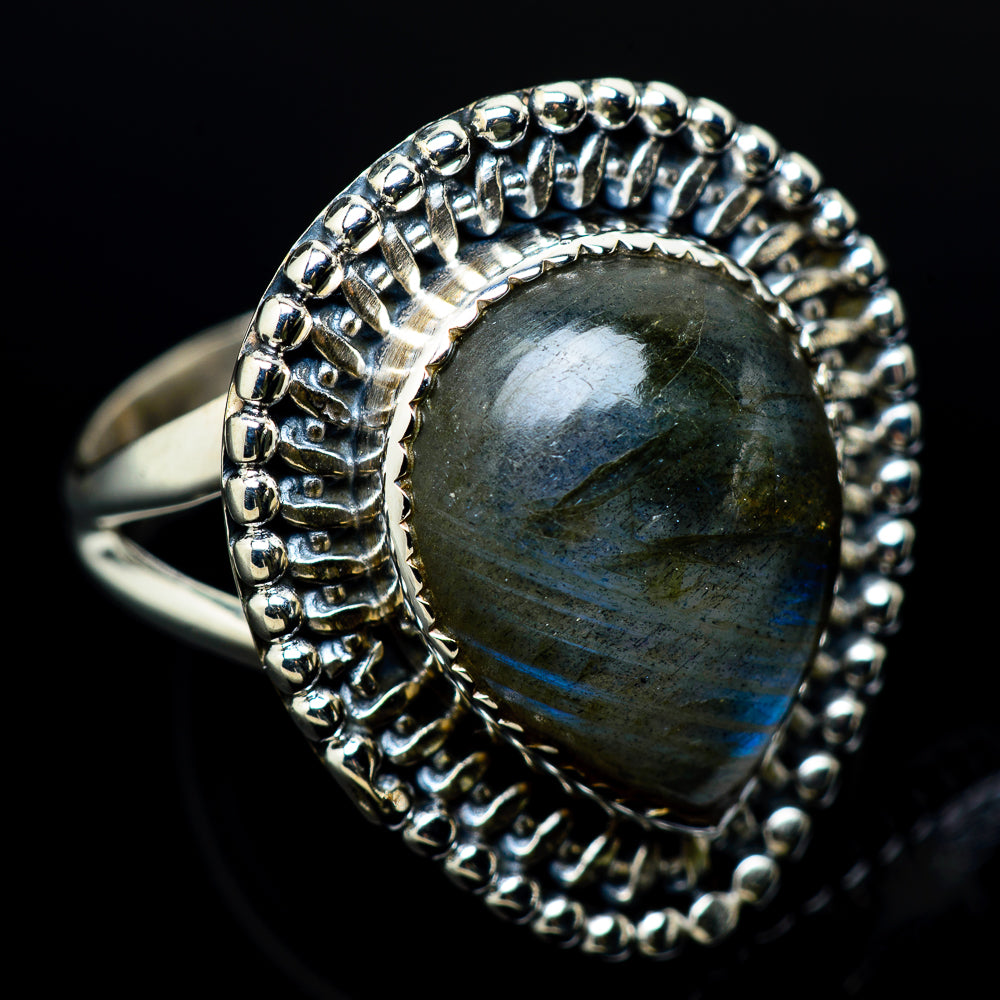Labradorite Rings handcrafted by Ana Silver Co - RING12335
