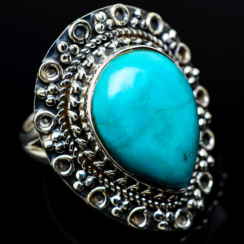 Larimar Rings handcrafted by Ana Silver Co - RING12383