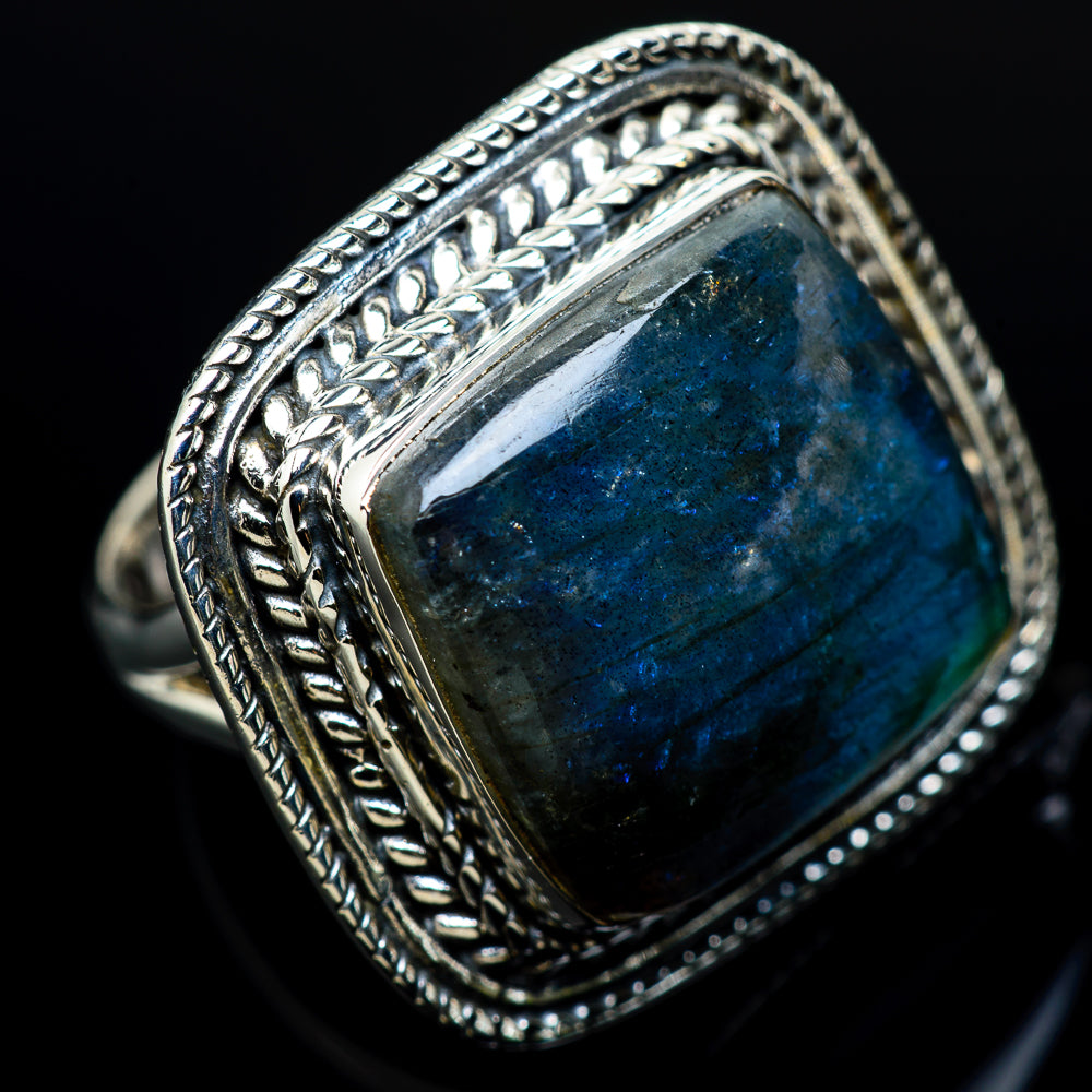 Labradorite Rings handcrafted by Ana Silver Co - RING12386