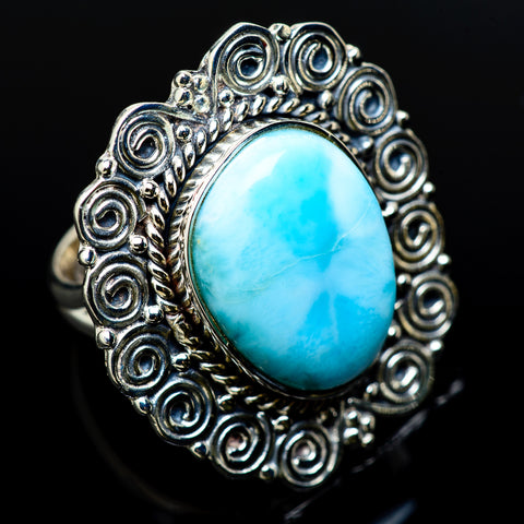 Larimar Rings handcrafted by Ana Silver Co - RING12480