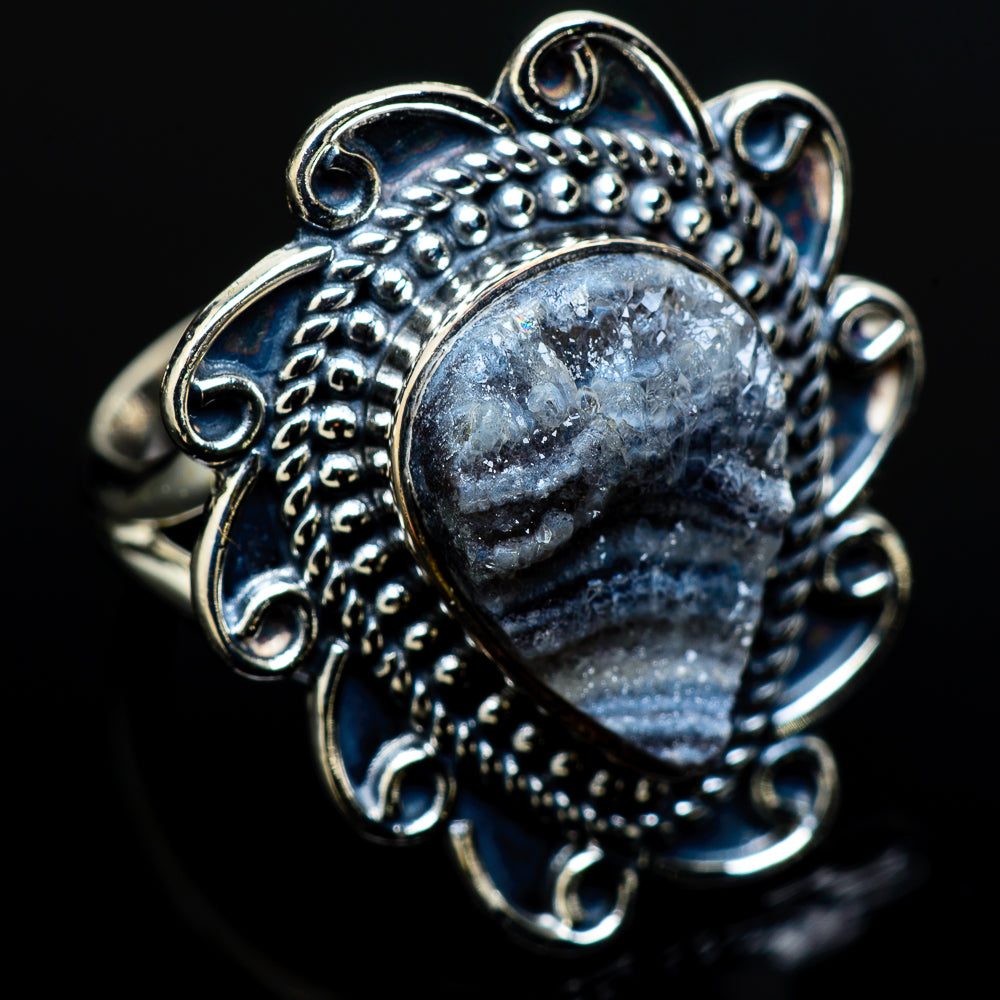 Desert Druzy Rings handcrafted by Ana Silver Co - RING12551