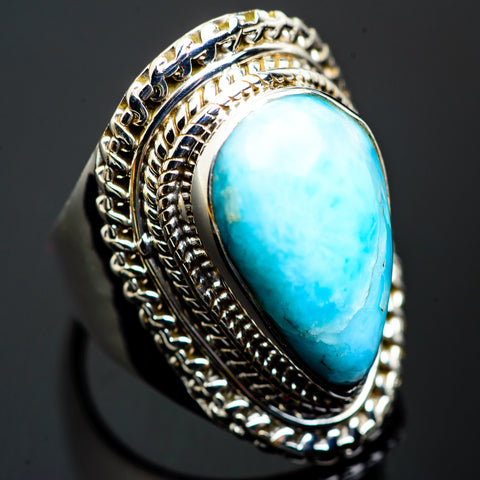 Larimar Rings handcrafted by Ana Silver Co - RING1258
