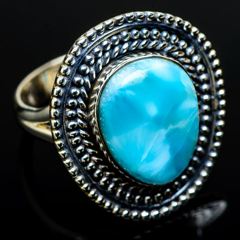 Larimar Rings handcrafted by Ana Silver Co - RING12673