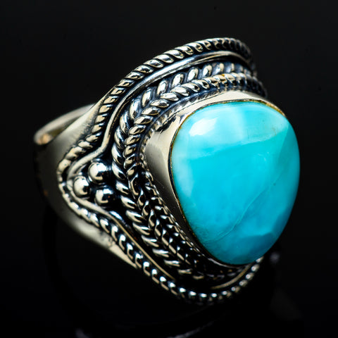 Larimar Rings handcrafted by Ana Silver Co - RING12718