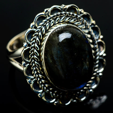 Labradorite Rings handcrafted by Ana Silver Co - RING12744
