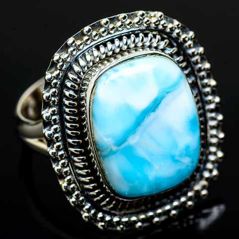 Larimar Rings handcrafted by Ana Silver Co - RING12767