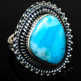 Larimar Rings handcrafted by Ana Silver Co - RING12803