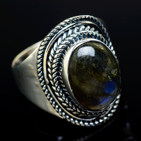Labradorite Rings handcrafted by Ana Silver Co - RING13013