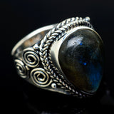 Labradorite Rings handcrafted by Ana Silver Co - RING13030