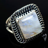 Rainbow Moonstone Rings handcrafted by Ana Silver Co - RING13068