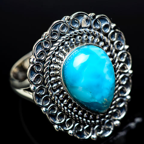 Larimar Rings handcrafted by Ana Silver Co - RING13114