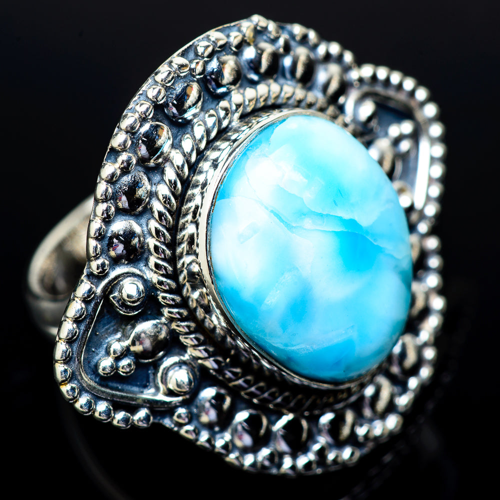 Larimar Rings handcrafted by Ana Silver Co - RING13295