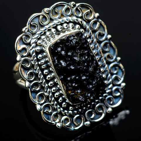 Tektite Rings handcrafted by Ana Silver Co - RING13319