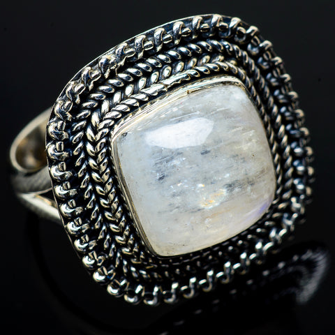 Rainbow Moonstone Rings handcrafted by Ana Silver Co - RING13410