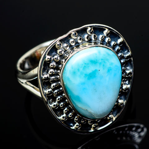 Larimar Rings handcrafted by Ana Silver Co - RING13421