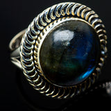 Labradorite Rings handcrafted by Ana Silver Co - RING13439