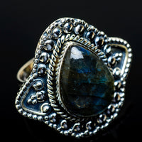 Labradorite Rings handcrafted by Ana Silver Co - RING13634