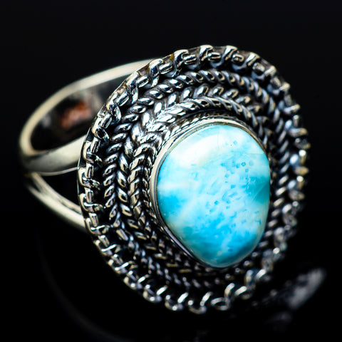 Larimar Rings handcrafted by Ana Silver Co - RING13832