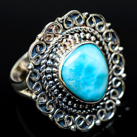 Larimar Rings handcrafted by Ana Silver Co - RING13892