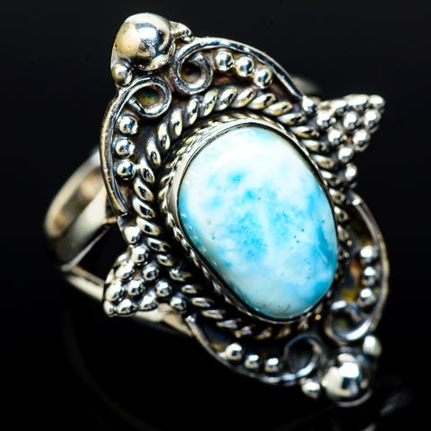 Larimar Rings handcrafted by Ana Silver Co - RING13897