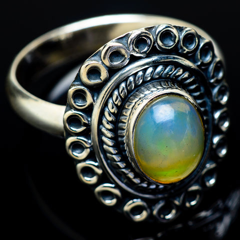 Ethiopian Opal Rings handcrafted by Ana Silver Co - RING13908