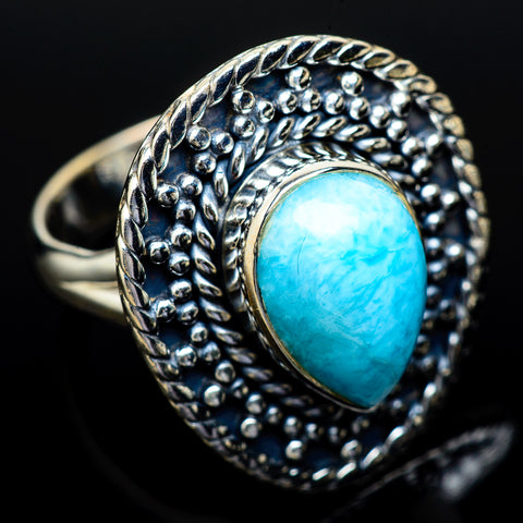 Larimar Rings handcrafted by Ana Silver Co - RING13943