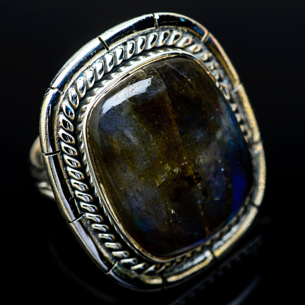 Labradorite Rings handcrafted by Ana Silver Co - RING14081