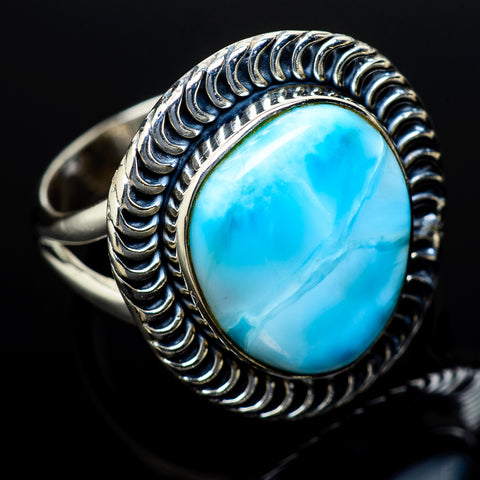 Larimar Rings handcrafted by Ana Silver Co - RING14099