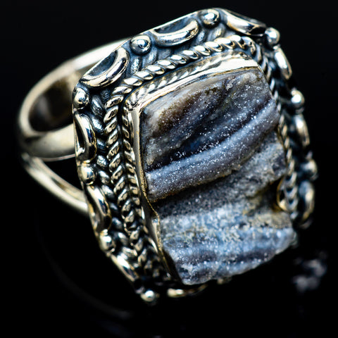 Desert Druzy Rings handcrafted by Ana Silver Co - RING14122