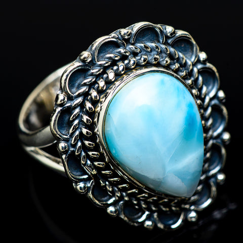 Larimar Rings handcrafted by Ana Silver Co - RING14171