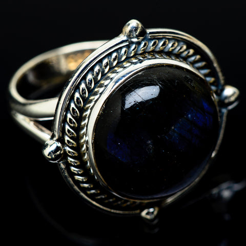 Labradorite Rings handcrafted by Ana Silver Co - RING14215