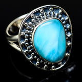 Larimar Rings handcrafted by Ana Silver Co - RING14244
