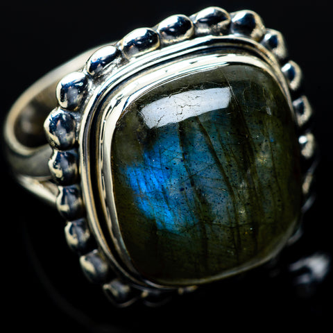 Labradorite Rings handcrafted by Ana Silver Co - RING14252