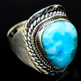 Larimar Rings handcrafted by Ana Silver Co - RING14254